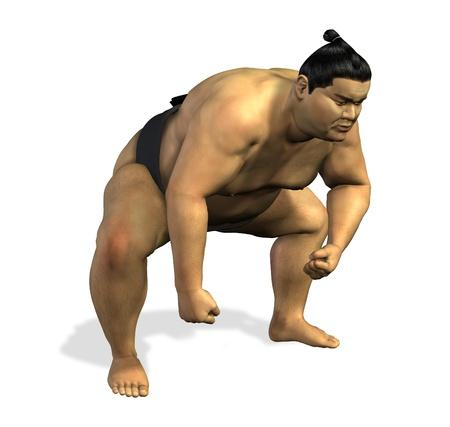 Lottatore di sumo 1 - 3D render Archivio Fotografico - 11711071