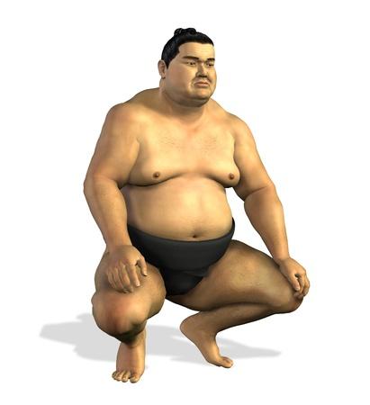Sumo Wrestler 2 - 3D render Stock fotó
