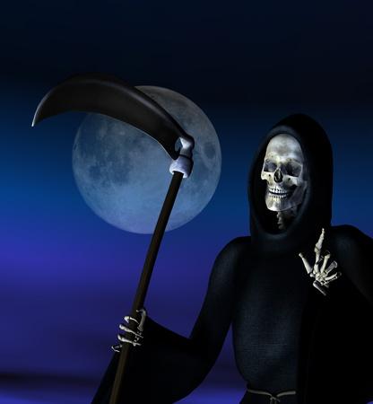 Grim Reaper - 3D render Zdjęcie Seryjne