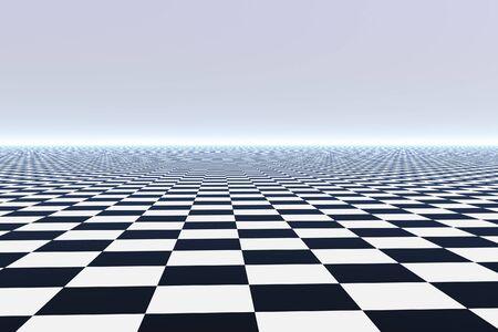 Infinite tile floor - 3D render
