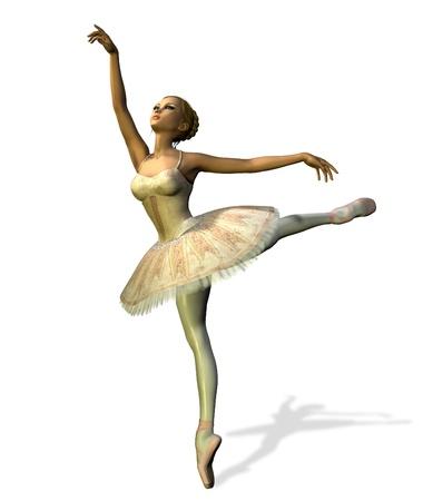 발레 댄서 - 3D 렌더링합니다. 스톡 콘텐츠 - 11711208