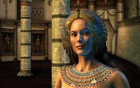 Egyptische prinses - 3D render