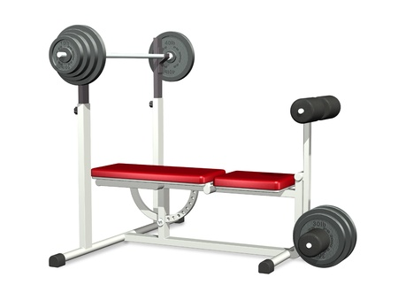 Weightlifting Power Bench - 3D render