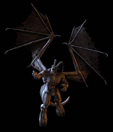 3D render of a Bone Demon. 版權商用圖片