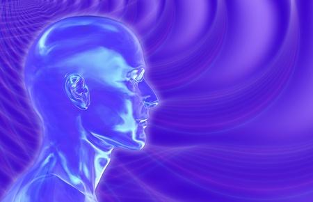 Violeta ondas cerebrales de fondo Foto de archivo