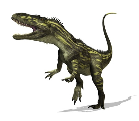 The torvosaurus dinosaur lived during the Late Jurassic Period - 3D render