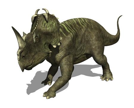 The Centrosaurus dinosaur lived during the Late Cretaceous period - 3d render  Archivio Fotografico