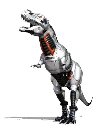 Modern technology goes prehistoric with this robot dinosaur - 3D render