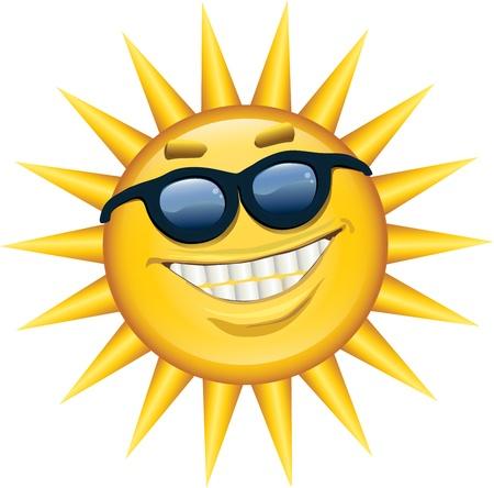 Lachend Sunshine Stock Illustratie