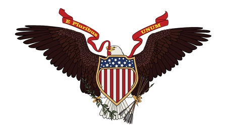 Great Seal of the USA - vector illustration  Illustration