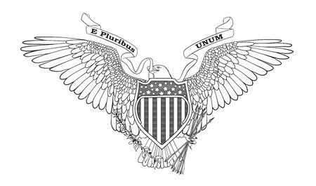Grote Zegel van de Verenigde Staten - vector illustration