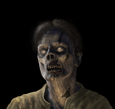 Portrait of a zombie - 3d render with digital painting. Фото со стока - 22256565