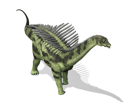 The Agustinia was a sauropod dinosaur that lived during the Early Cretaceous period - 3d render.