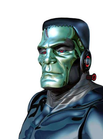 로봇 괴물은 인공 지능의 위험성을 보여줍니다. 스톡 콘텐츠 - 80716843