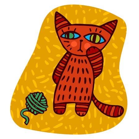 cilia: orange cat and a ball