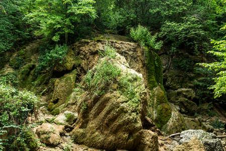 crumbling: Crumbling waterfall silver jet