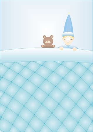 blu: sleepingBabyBoy Illustration