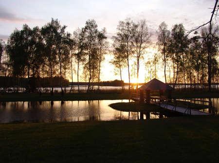 summerhouse on the lake photo