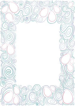 frame made of hand-drawn designs with the contours of the eggs Stock Vector - 12519314