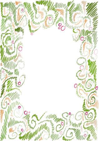 frame with floral pattern, floral motifs, hand-drawn Stock Vector - 12888752
