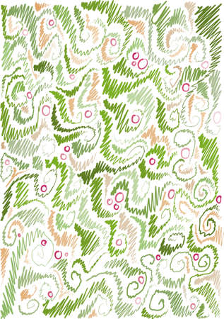 background with floral pattern, floral motifs, hand-drawn Stock Vector - 13052183