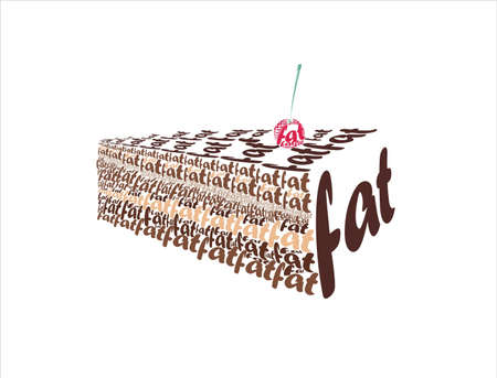 vector images is a piece of chocolate cake from the word