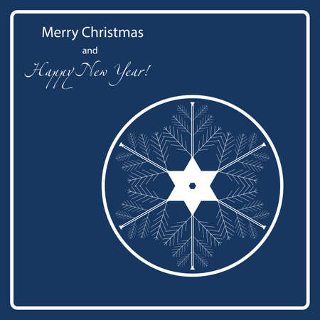 holiday: Christmas Holiday Snowflake Illustration