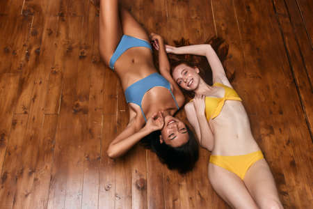 cheerful glamour girls enjoying holiday, lifestyle, free time, spare time, pleasure, weekend with best friend, friendship