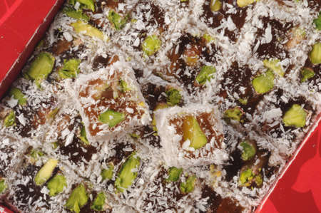 the turkish delight with pistachios and coconut