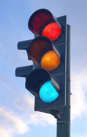 Traffic lights in traffic is very important for our life security Stock Photo