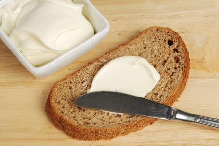 creamy bread Stock Photo