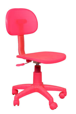 children pink chair isolated on white