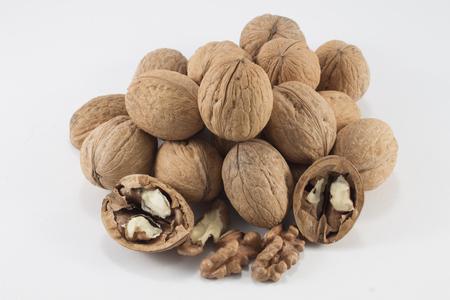 product healthy: Un mucchio di noci deliziosi nutriente prodotto sano. Archivio Fotografico