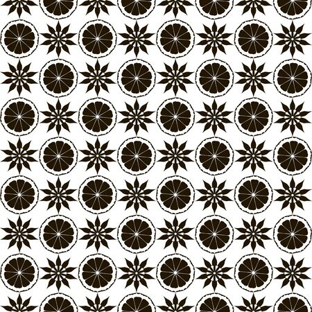 ruche: Seamless pattern with black pattern on a white background.