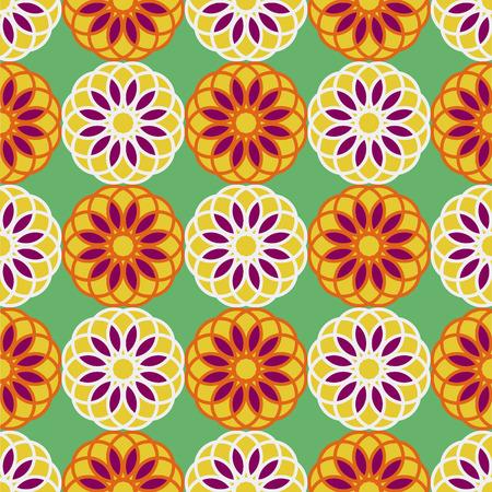 stylishness: Seamless floral yellow purple retro pattern background.