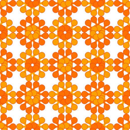 meta: Abstract seamless pattern made of simple cartoon meta balls. Illustration