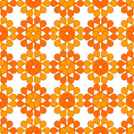 Abstract seamless pattern made of simple cartoon meta balls. Illustration