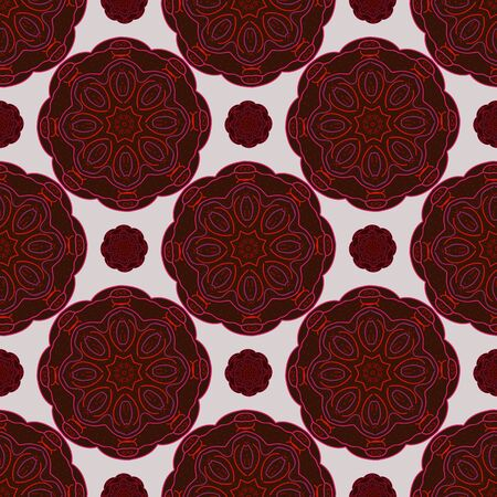 kazakhstan: Background vector illustration of seamless pattern of circles in oriental style.