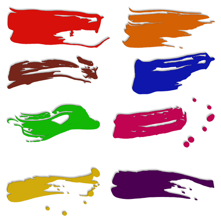 smears: Background vector illustration abstract smears of colour paints.