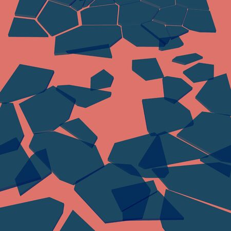 clash: Abstract background vector shards of glass on a pink background. Illustration