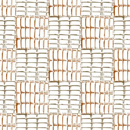 kratka: Vector background illustration abstract seamless pattern old grille. Ilustracja