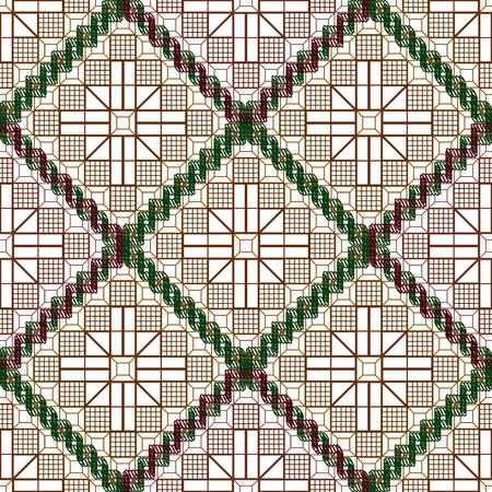 grille: Background vector illustration seamless pattern decorative grille. Illustration