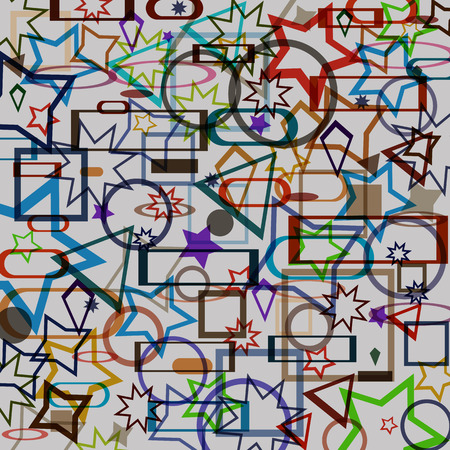 randomly: Illustration vector background Abstract pattern of color randomly scattered objects.