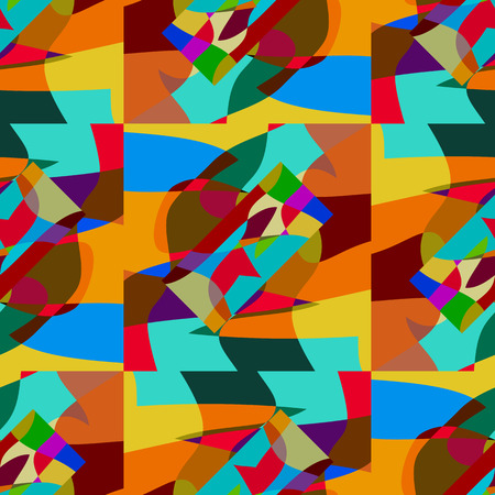seamlessly: Background vector illustration seamless pattern colored mosaic.