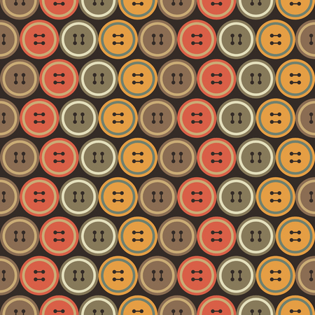 dressmaking: Background illustration seamless pattern of colored buttons.