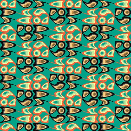 nifty: Background illustration seamless pattern abstract colored shapes. Illustration