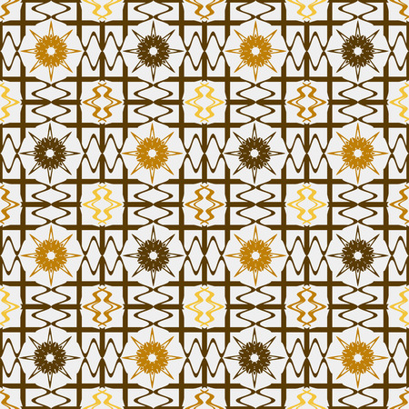 antiquary: Background illustration seamless pattern abstract decorative grille.