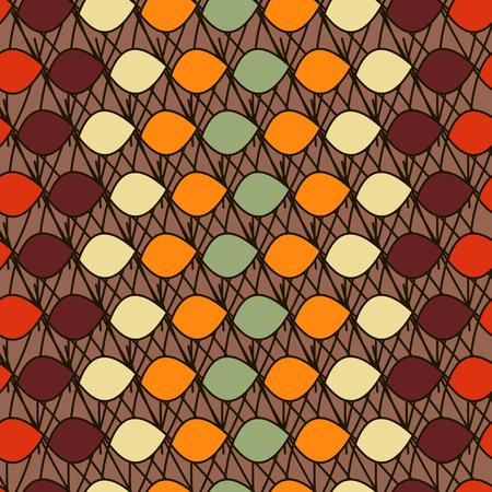 ovals: Background illustration seamless pattern of colored ovals. Illustration