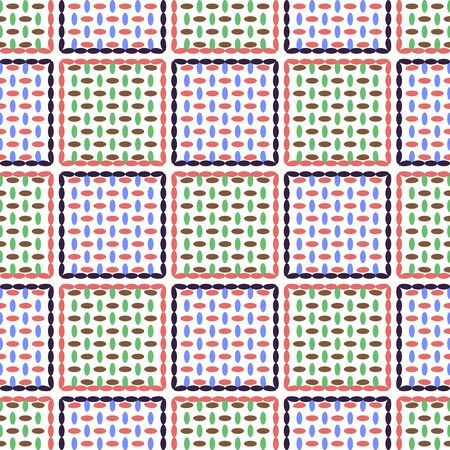 repetition row: Illustration vector background seamless pattern of colored ovals.