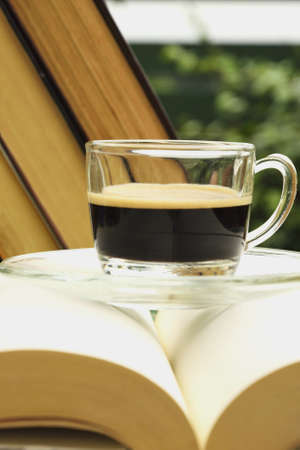 alte: Cup of coffe and the books